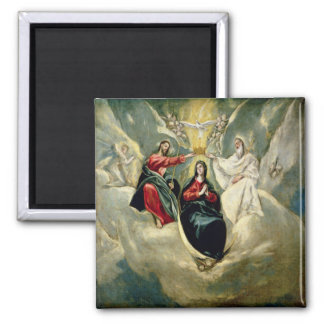 The Coronation of the Virgin, c.1591-92 2 Inch Square Magnet