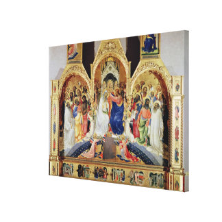 The Coronation of the Virgin Canvas Print