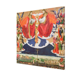 The Coronation of the Virgin, completed 1454 2 Canvas Print