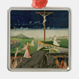 The Coronation of the Virgin, completed 1454 Square Metal Christmas Ornament