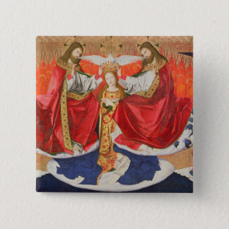 The Coronation of the Virgin, completed 1454 Pinback Button