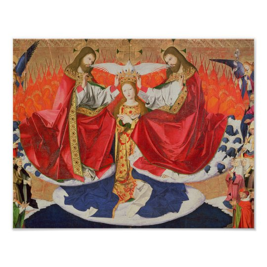 The Coronation of the Virgin, completed 1454 Poster
