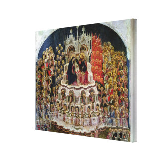 The Coronation of the Virgin in Paradise, 1438 Canvas Print