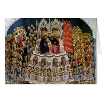 The Coronation of the Virgin in Paradise, 1438 Card
