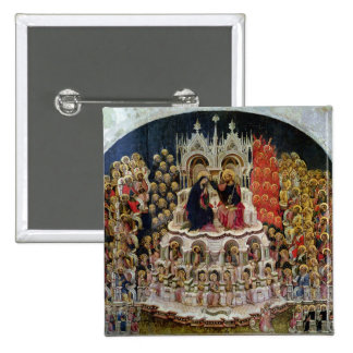 The Coronation of the Virgin in Paradise, 1438 Pinback Button