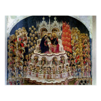 The Coronation of the Virgin in Paradise, 1438 Postcard