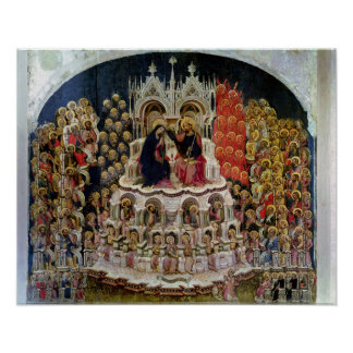 The Coronation of the Virgin in Paradise, 1438 Poster