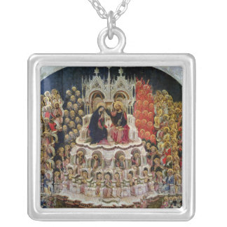 The Coronation of the Virgin in Paradise, 1438 Silver Plated Necklace