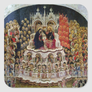 The Coronation of the Virgin in Paradise, 1438 Square Sticker