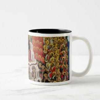 The Coronation of the Virgin in Paradise, 1438 Two-Tone Coffee Mug