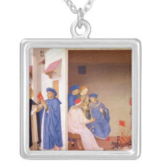 The Coronation of the Virgin Silver Plated Necklace