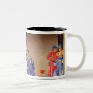 The Coronation of the Virgin Two-Tone Coffee Mug