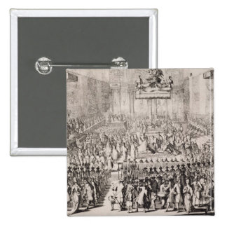 The Coronation of William of Orange (1650-1702) an 2 Inch Square Button