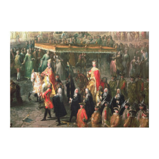 The coronation procession of Joseph II Canvas Print
