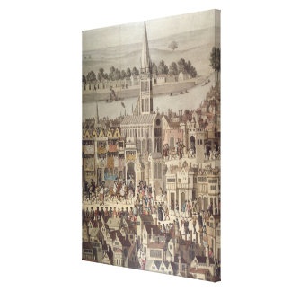 The Coronation Procession of King Edward VI Canvas Print