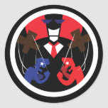 The Corporate Puppeteer Round Stickers
