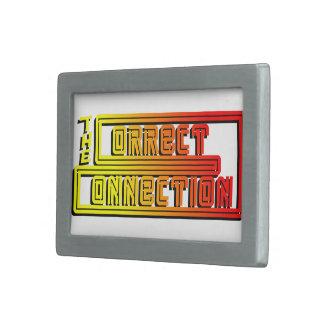 The Correct Connection™ official Belt Buckle. Rectangular Belt Buckle