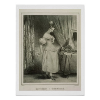 The Corset, engraved by Alfred Leon Lemercier (fl. Poster