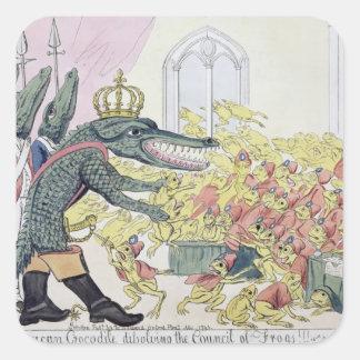 The Corsican Crocodile Square Sticker