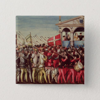 The Cortege of Drummers and Soldiers Pinback Button