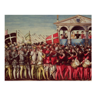 The Cortege of Drummers and Soldiers Postcard