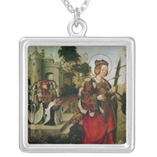 The Cortege of the Relics of St. Auta Silver Plated Necklace
