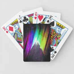 The Cosmic Pyramid Bicycle Playing Cards