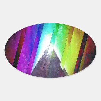 The Cosmic Pyramid Oval Sticker