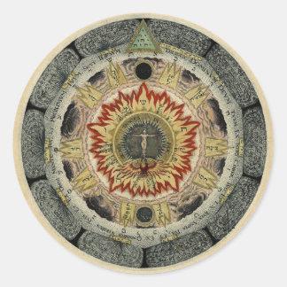 The Cosmic Rose Classic Round Sticker