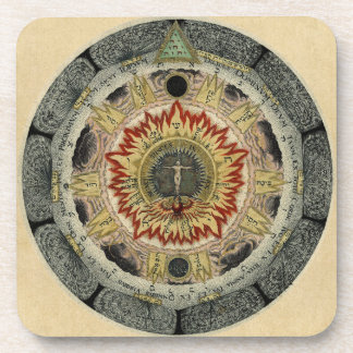 The Cosmic Rose Drink Coaster