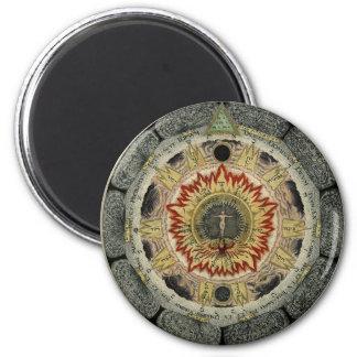 The Cosmic Rose Mandala Magnet