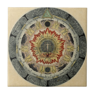 The Cosmic Rose Small Square Tile