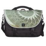 The Cosmic Spiral - Sacred Geometry Golden Spiral Laptop Messenger Bag