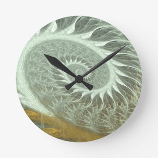 The Cosmic Spiral - Sacred Geometry Golden Spiral Round Clock