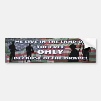 THE COST OF FREEDOM BUMPER STICKER