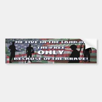 THE COST OF FREEDOM BUMPER STICKER