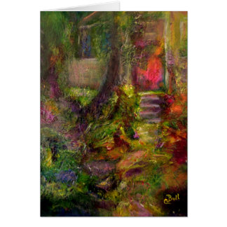 """The Cottage"" Art notecard Stationery Note Card"