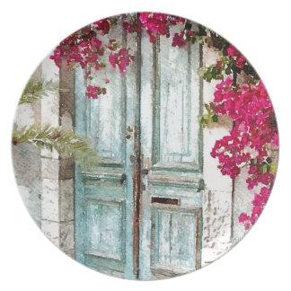 The Cottage Door Melamine Plate