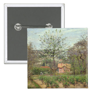The Cottage, or the Pink House Pinback Button