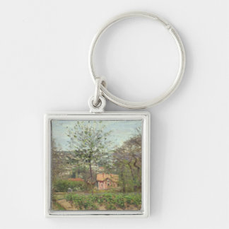 The Cottage, or the Pink House Keychain