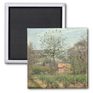 The Cottage, or the Pink House Refrigerator Magnet