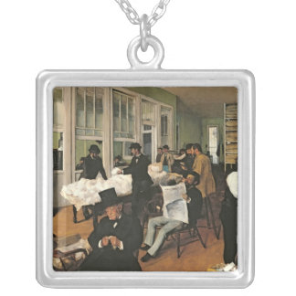 The Cotton Exchange, New Orleans, 1873 Silver Plated Necklace