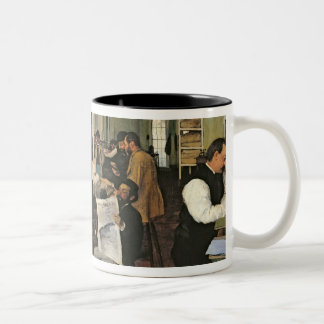 The Cotton Exchange, New Orleans, 1873 Two-Tone Coffee Mug