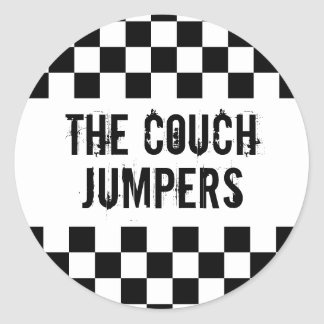The Couch Jumpers round sticker