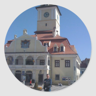 The Council House, Brasov, Romania Classic Round Sticker