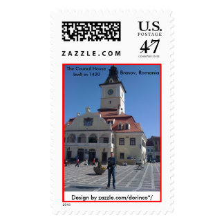 The Council House, Brasov, Romania Postage