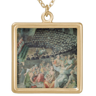The Council of Trent, 1588-89 (fresco) Gold Plated Necklace