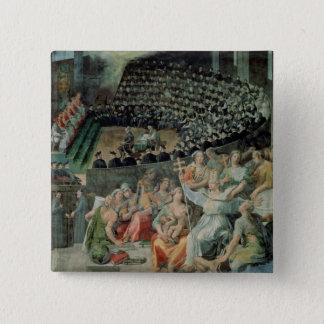 The Council of Trent, 1588-89 (fresco) Pinback Button