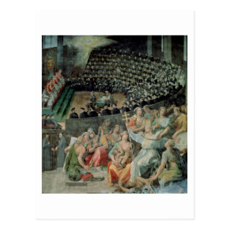 The Council of Trent, 1588-89 (fresco) Postcard