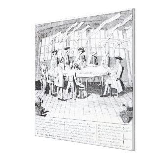 The Council of War in 1756 Canvas Print